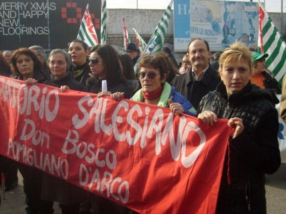 Fiat workers on strike