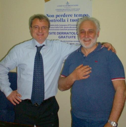 BRUSCIANO Vicesindaco Cerciello con prof  Marfella