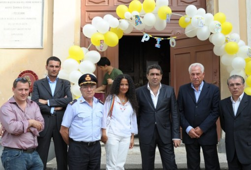 Agnese Ginocchio 2Sindaco De Lucia e autorità esequie Francesco Pio Martinisi