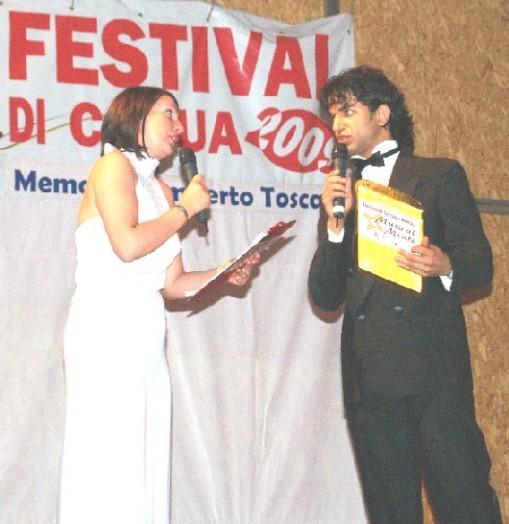 Festival della canzone di Capua, i due presentatori