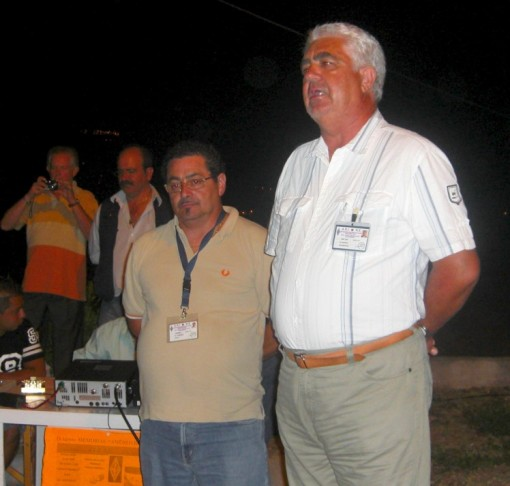 Presidente di Nardo Ari benevento e Gino Di Lorenzo