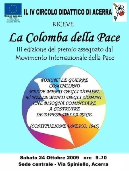 Manifesto 3 ed.ne Colomba Pace Acerra