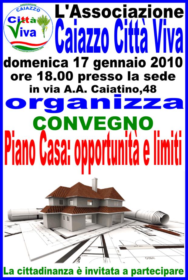 Caiazzo ce 17 gennaio ass citt viva organiza convegno - Regione campania piano casa ...