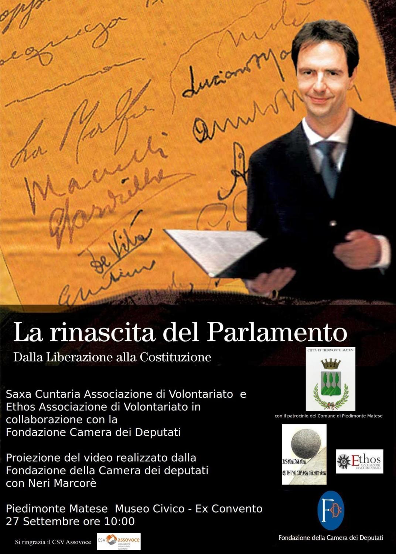 Piedimonte matese ce 27 settembre proiezione video la for Storia del parlamento italiano
