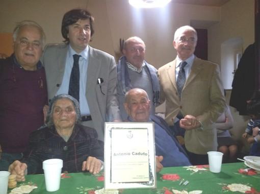 Caduto Antonio insieme al sindaco di Pietravairano Zarone