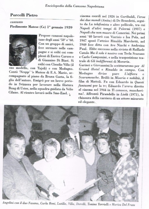 Pierino Porcelli su enciclopedia dellla canzone napoletana