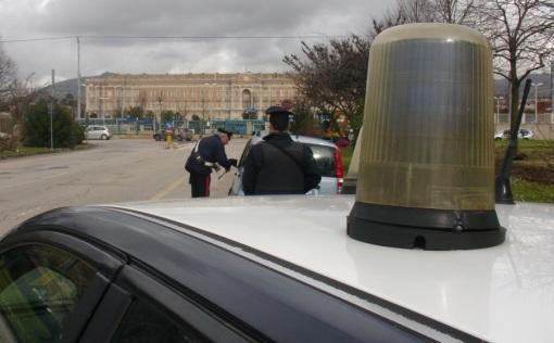 Carabinieri sul Viale Carlo III