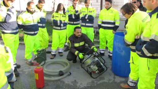 Volontari prot.civile con i VV.FF. di Caserta