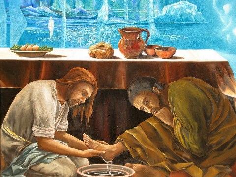 giovedi santo lavanda piedi