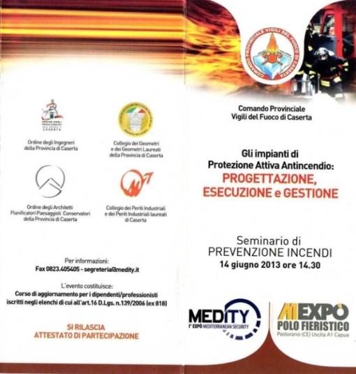 Gli impianti di protezione attiva antincendio, invito 1