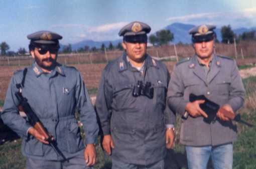 GRAZ Da sx Le guardie venatorie Agostino Zampone, Mattia Parente e Domenico Raimondo