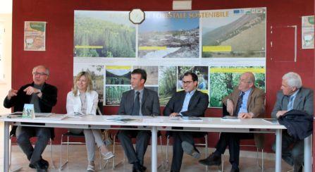 Al tavolo tecnico Monica Falco Assoretipmi, il vice sindaco Ricci, il presidente dell'ente Parco del Matese De Nicola, i sindaci Montoro e Viccione