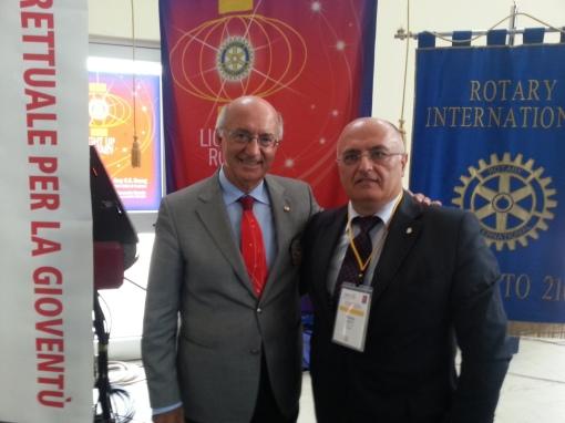 Il Presidente Rotary Nicola Venditti con il Governatore Distrettuale Giancarlo Spezie
