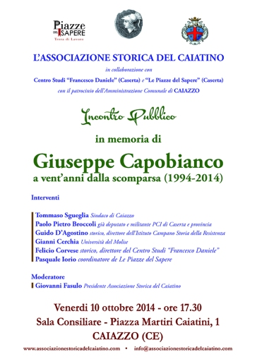 Locandina 10 ottobre 2014 Capobianco Caiazzo
