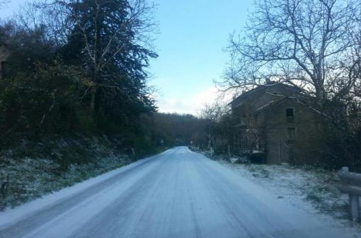 capriati strade ghiaciate neve