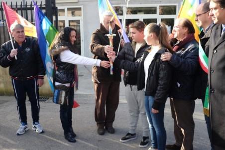 Consegna Fiaccola Pace ai giovani di Bellona