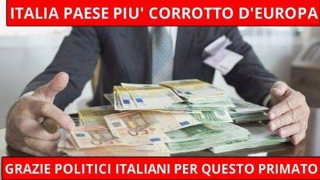 italia paese più corrotto