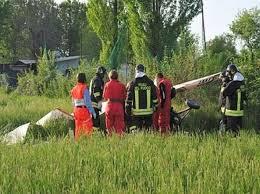 deltaplano caduta