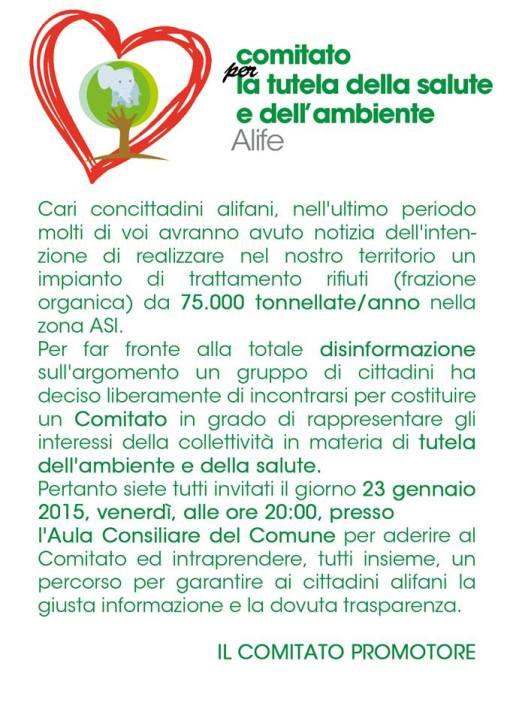 manifesto comitato salute ambiente alife