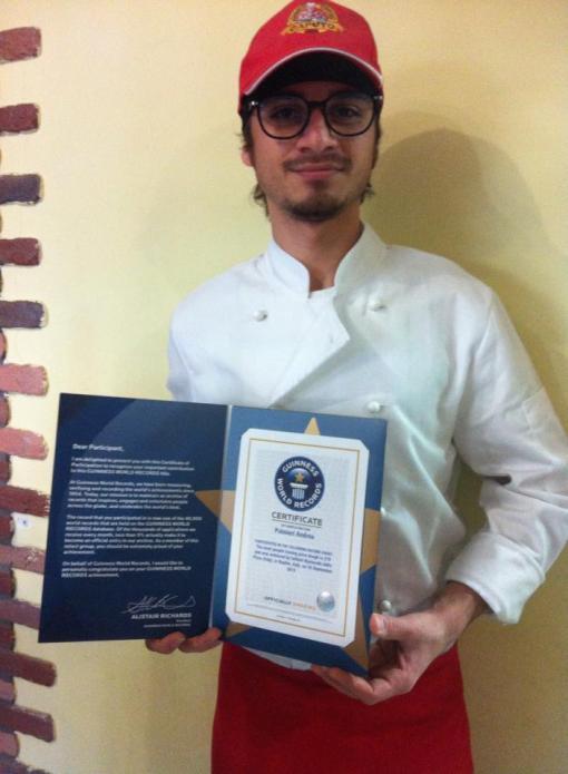 Andrea Palmieri con il Guinness World Record