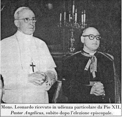 Mons. Leonardo con Papa Pio XII