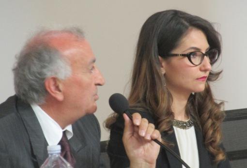 GRAZZANISE Il sindaco Gravante e la presidente del consiglio comunale, Cerchiello