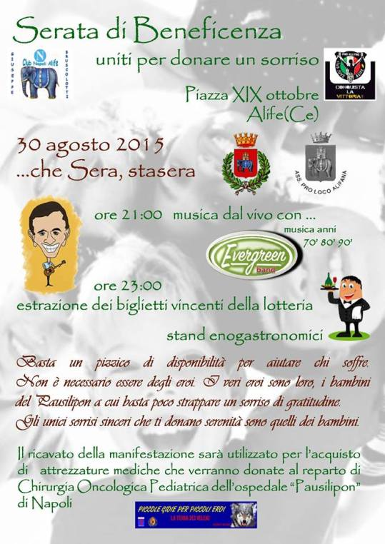 concerto di beneficenza alife 30 agosto